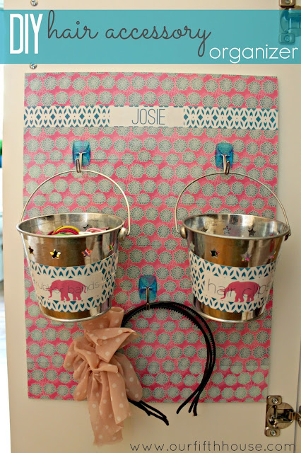 DIY Hair Accessory Organizer made with the ZINK hAppy