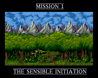 Nicely Drawn Intro Screens In Cannon Fodder