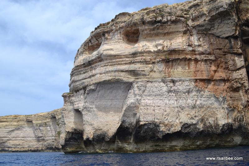 Smiling rock in gozo