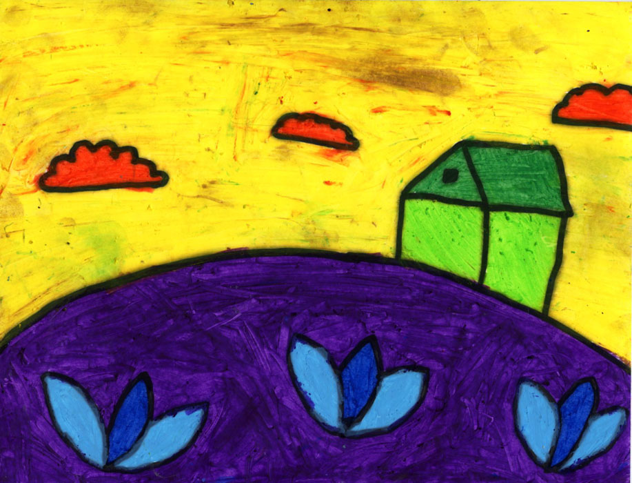 Art projects for kids march 2012 for Landscape art projects