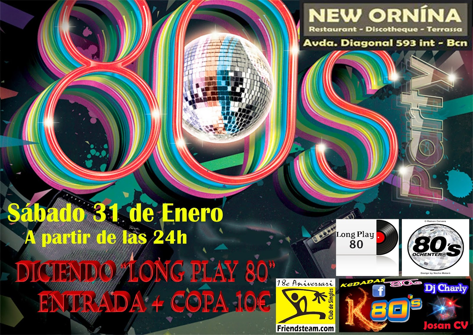 Flyer 80s Party (Long Play 80)