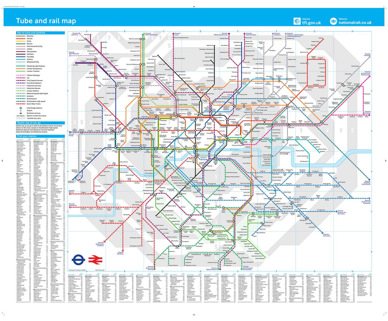 OEPs To Be Scrapped and a New Combined TubeRail Map London – London Travel Zone Map