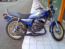 modifikasi motor rx king warna biru  paling bagus