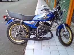 modifikasi motor rx king warna biru 2 terkeren