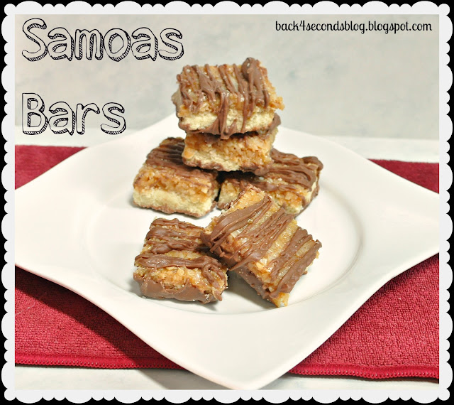 Samoas Bars #coconut #caramel #chocolate #shortbread #cookie #bar