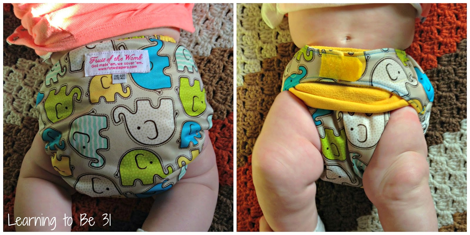 Cloth Diaper, Giveaway, One Size, All in One, AIO, AI2, All in Two, Overnight, Elephant, Gender Neutral, No Leaks, Hook & Loop, Velcro, Fold Down Rise, Christian Company, Small Business, Work at Home Mom, Review