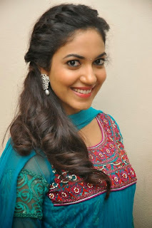 Ritu Varma Pictures in Blue Salwar Kameez at Prema Ishq Kadhal Audio Success Meet Function ~ Celebs Next