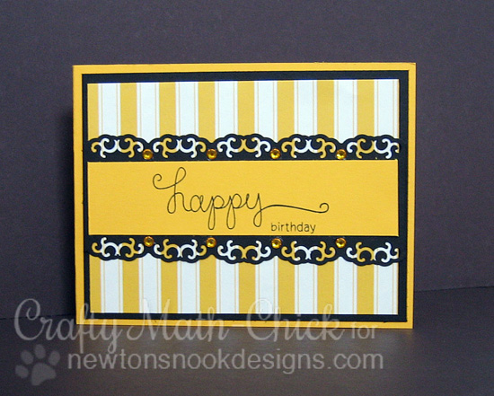Bright and Sunny Birthday Card by Crafty Math-Chick | Simply Sentimental Stamp set by Newton's Nook Designs