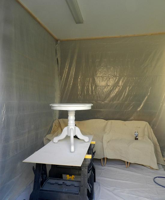 Diy Garage Spray Painting Booth