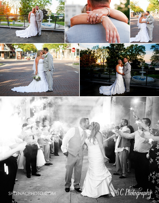 saint joseph michigan wedding veranda sparkler exit SC Photography