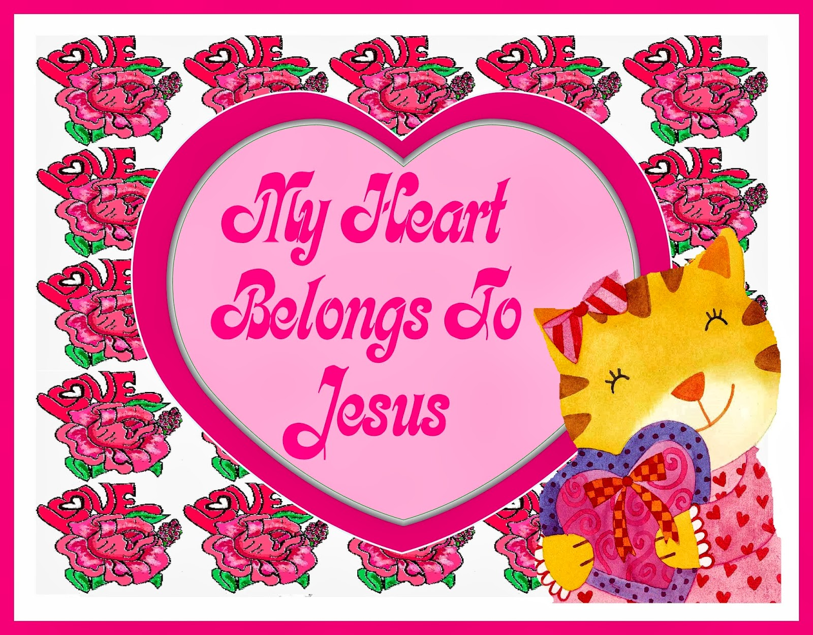 Christian Images In My Treasure Box: Rose Heart Borders And Frames