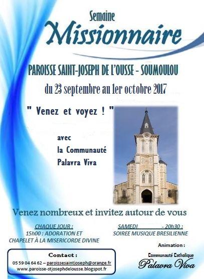 Le programme de la Semaine Missionnaire