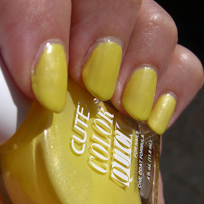 Cutex Color Quick - Slime Nail polish swatch