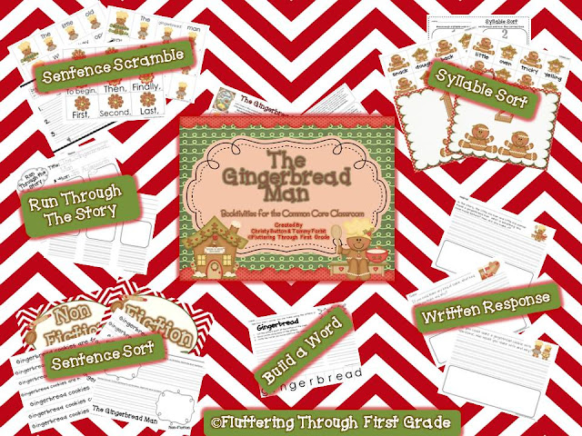 http://www.teacherspayteachers.com/Product/The-Gingerbread-Man-Booktivities-for-the-Common-Core-Classroom-429908