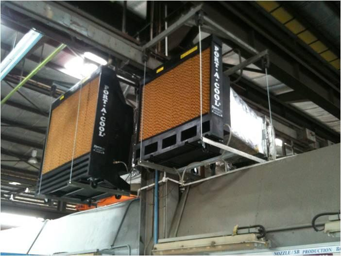 Evap Cooler Installation : Port a cool quot evaporative cooler installation