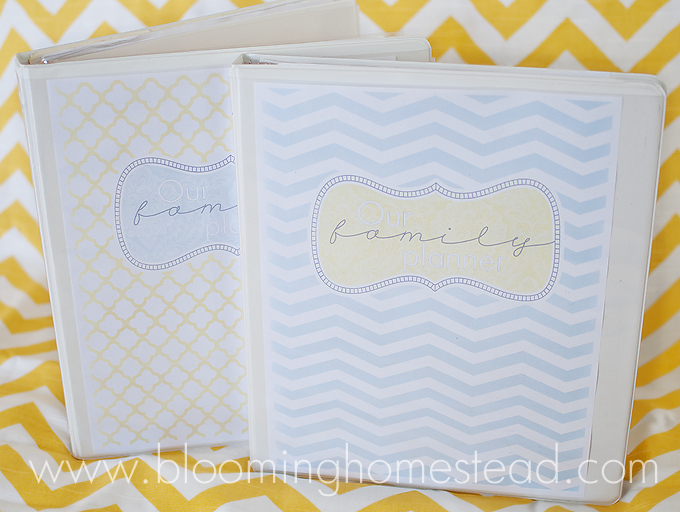home organizer cover page blooming homestead