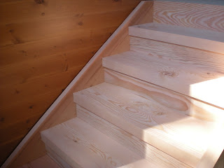 clear Doug fir timber stairs joinery,  http://huismanconcepts.com/