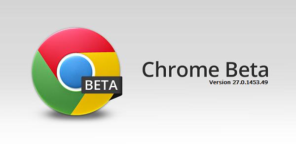 Google Chrome Beta v27