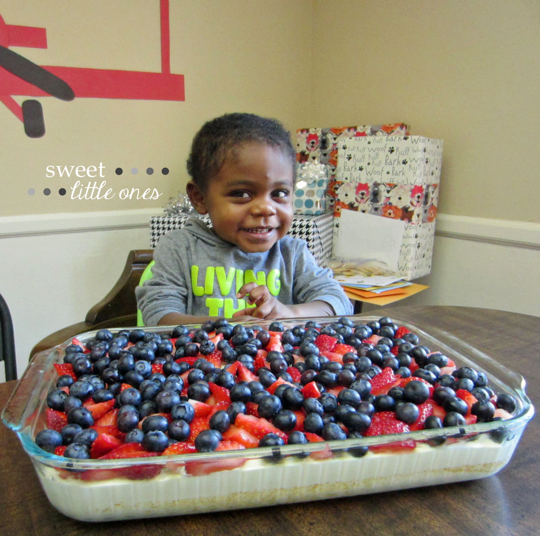 Whipped Lemon Cake with Berries Recipe - www.sweetlittleonesblog.com
