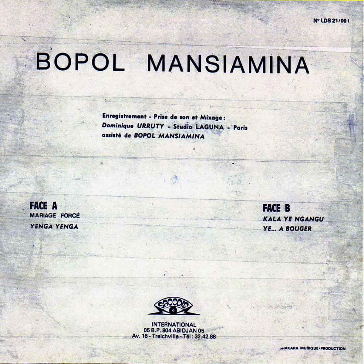 Bopol Mansiamina Besisimou Maillot Jaune