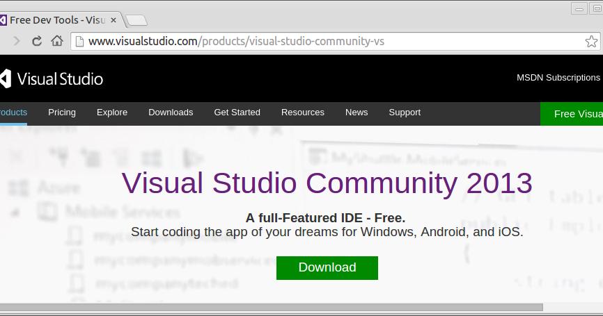 visual studio 2013 update 5 download