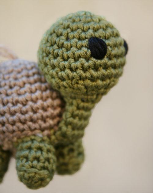 Testa tartaruga amigurumi
