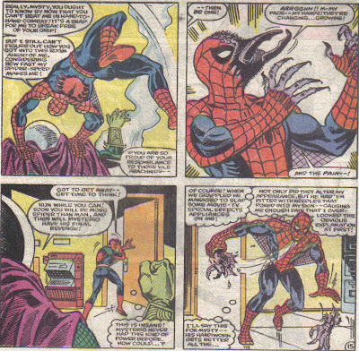 I thought Mysterio maybe could've poisoned the needles Spidey mentions, but that would've triggered his Spider-sense.