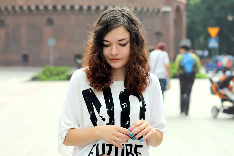 no future koszulka z nadrukiem
