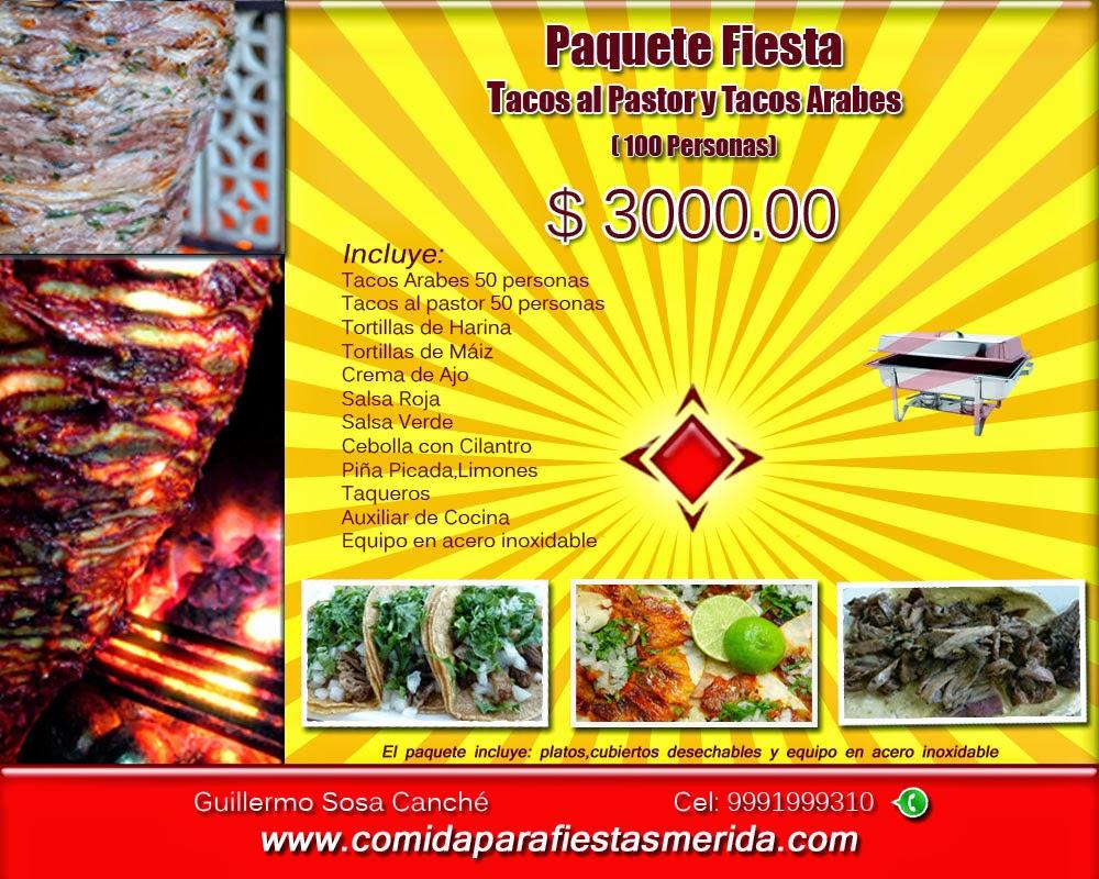 Paquete Tacos Árabes  y Tacos al Pastor