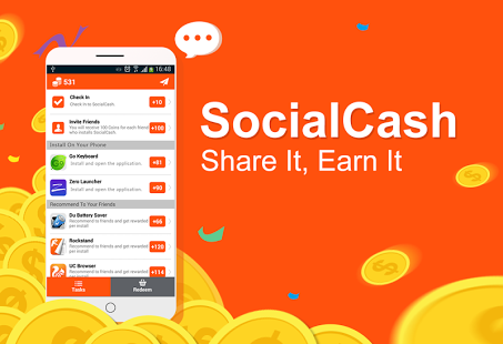 SocialCash Android Recharge and Earn Cash App