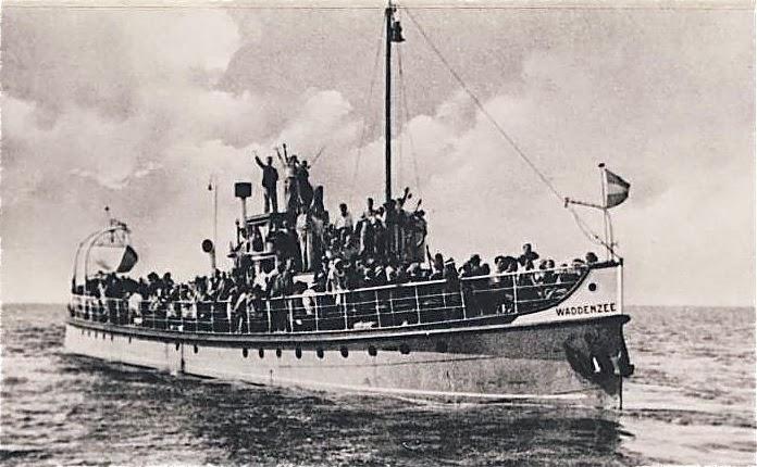 Veerboot 'Waddenzee' van rederij Olivier en Van der Geest. Ca. 1947.