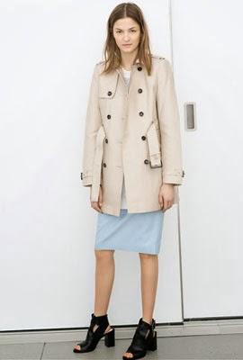 gabardina mujer Zara primavera 2014