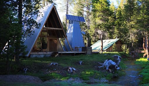 A modern a frame cabin in yosemite for Yosemite national park cabin rentals