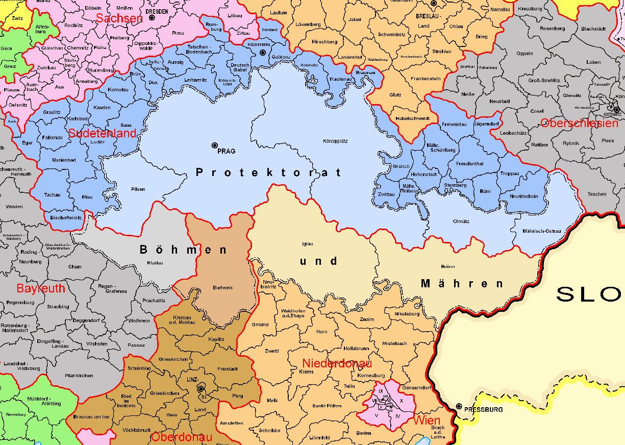 42 – Verwaltungskarte des Deutschen Reichs | Historische Landkarten - Deutschland 1939 Karte