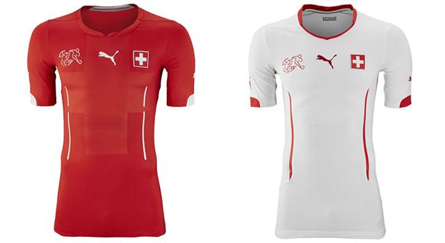 Camisetas selección Suiza Mundial 2014