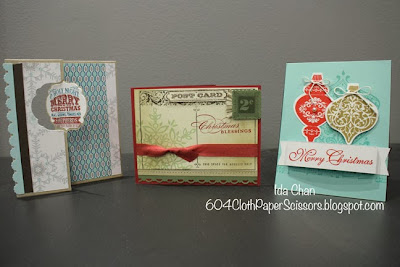 Christmas Stamp-a-stack III by Ida Chan #StampinUp Vancouver