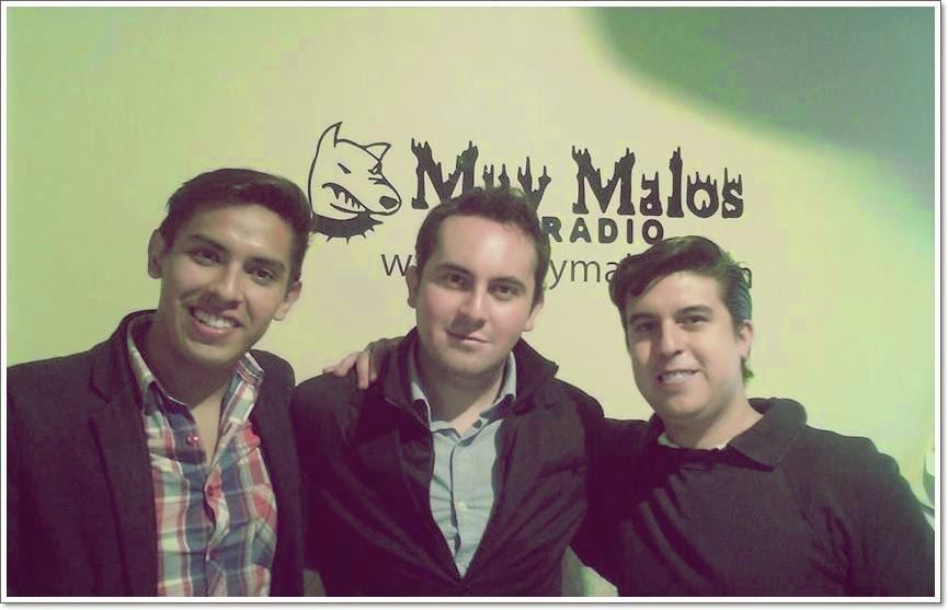 Rodrigo Flores, Héctor Balmaceda y Carlos Sierra Lechuga