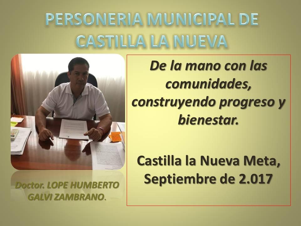 PERSONERIA DE CASTILLA LA NUEVA
