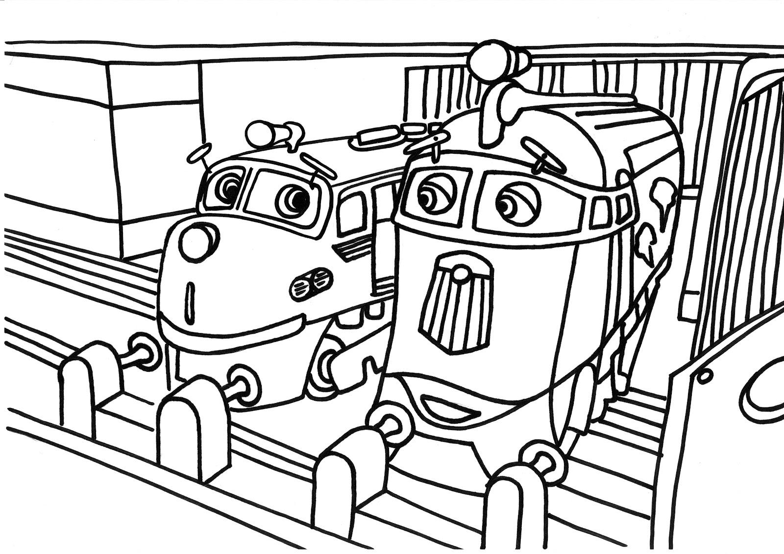 colora un treno chuggington frostini wilson