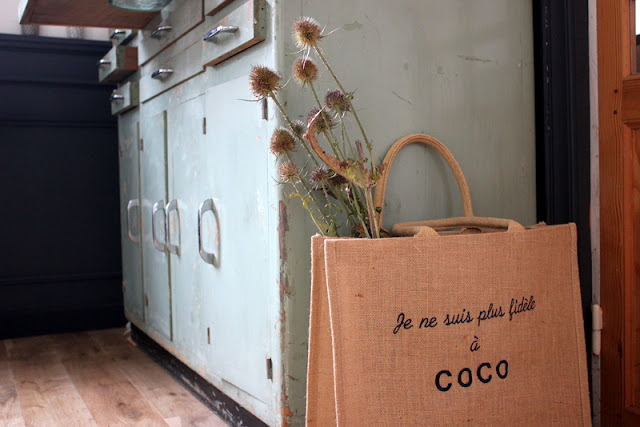Sac Improbable en jute / Meuble de dentiste // Photo Atelier rue verte, le blog /
