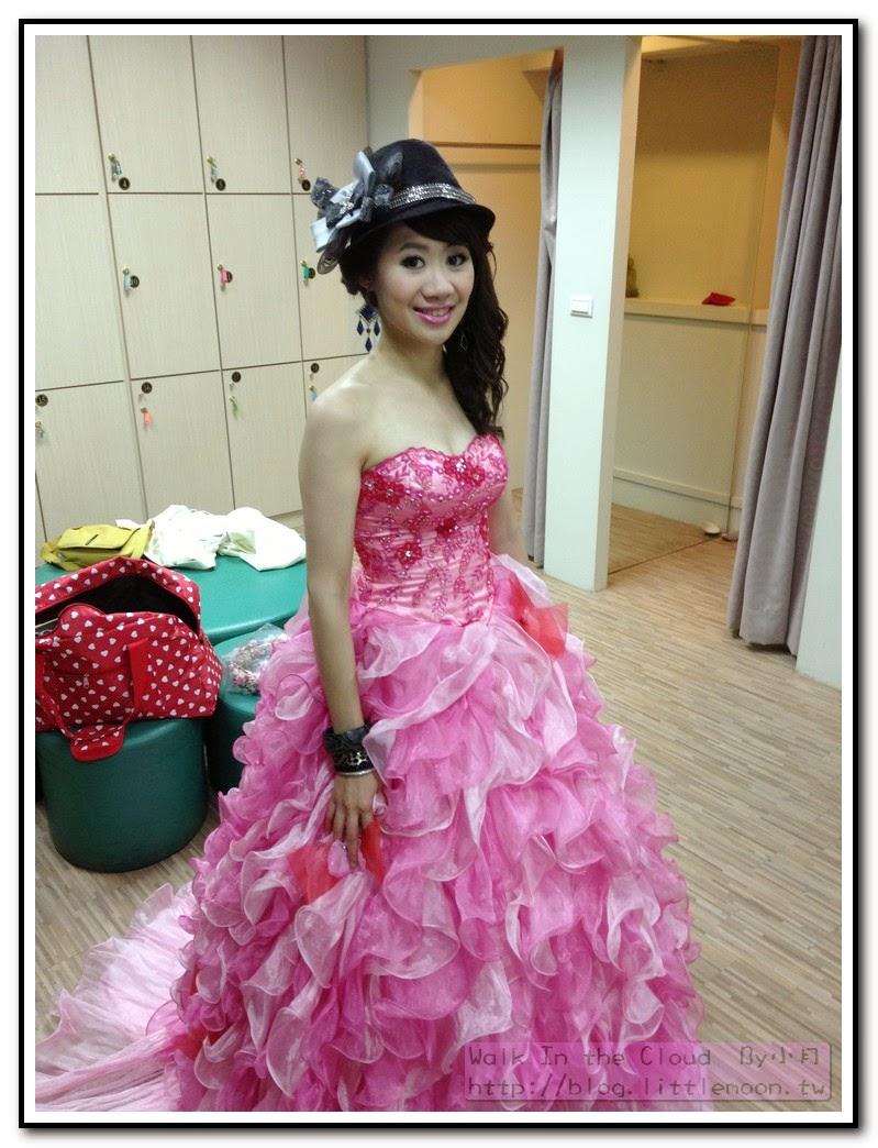 粉紅色禮服搭配時尚造型