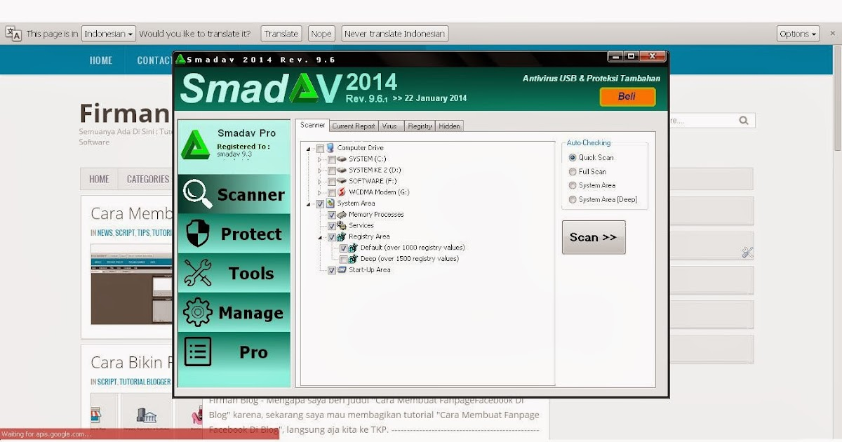 Free Download Smadav 9.6.1 + Serial Number