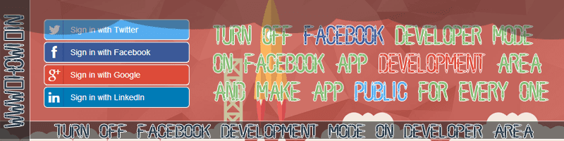 Turn Off Facebook Developer Mode of Facebook App
