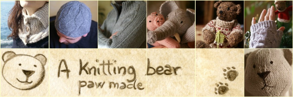 a knitting bear...
