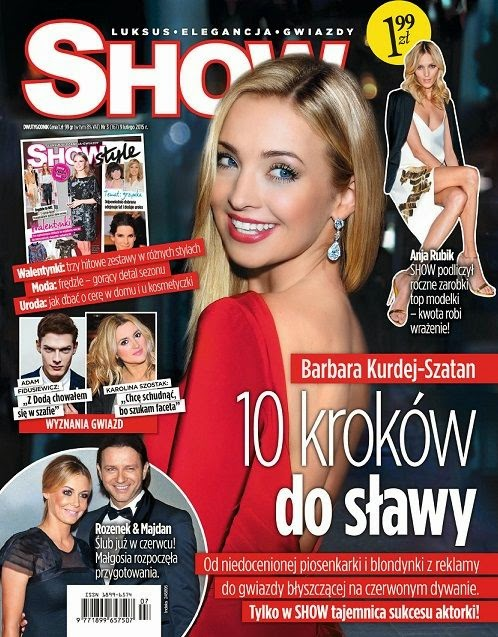 Singer, Actress: Barbara Kurdej for Show Poland