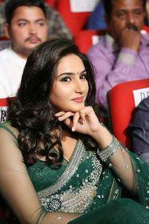 Actress Ragini Dwivedi  Pictures in Saree at Jenda Pai Kapiraju Audio Launch 0012