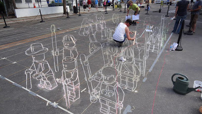 chalk festival art - sarasota - chalk street art