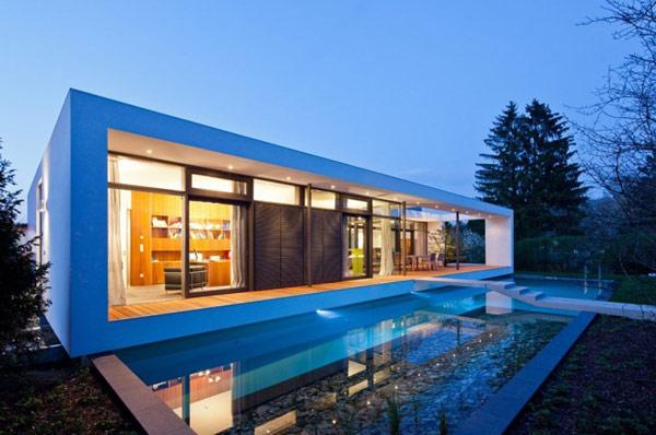 Con un diseño concebido por Architekten Dettling, C1 Casa en Karlsruhe, Alemania muestra un aspecto interesante exterior rectangular, delineado por una