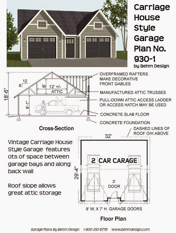 Garage plans blog behm design garage plan examples for Large carriage house plans