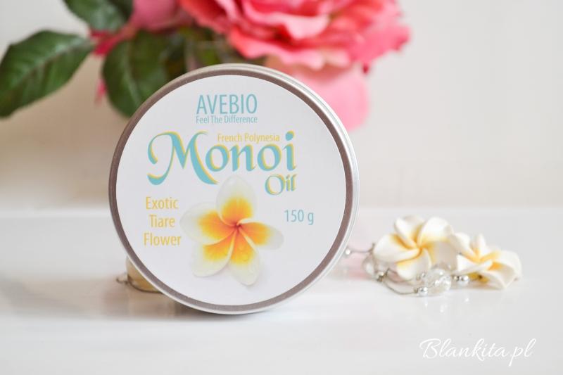 avebio olej monoi, olej kokosowy, olej z kwaiatami gardenii, kwiaty tiare, olej do wlosow, olej do ciala, olejek, kwiaty gardenii